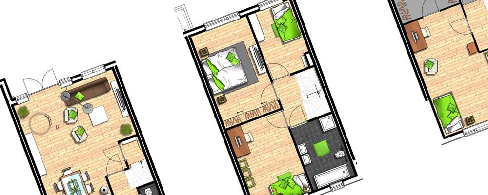 Huis indeling for Tekenprogramma bouw