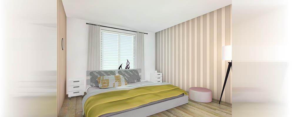 Slaapkamer impressie for 3d slaapkamer maken