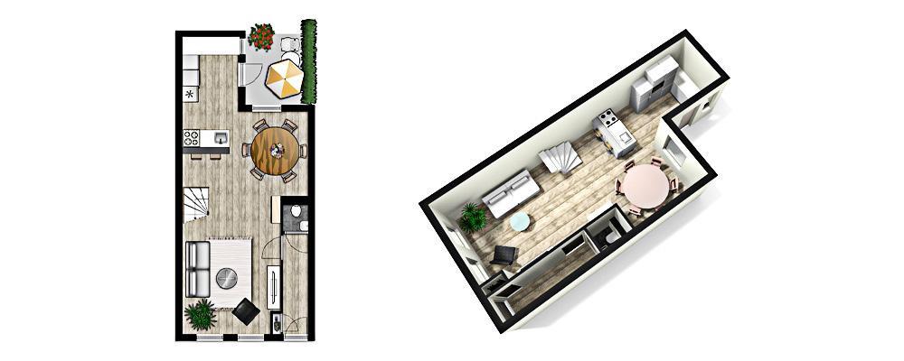 3d plattegrond for Badkamer tekenen 3d