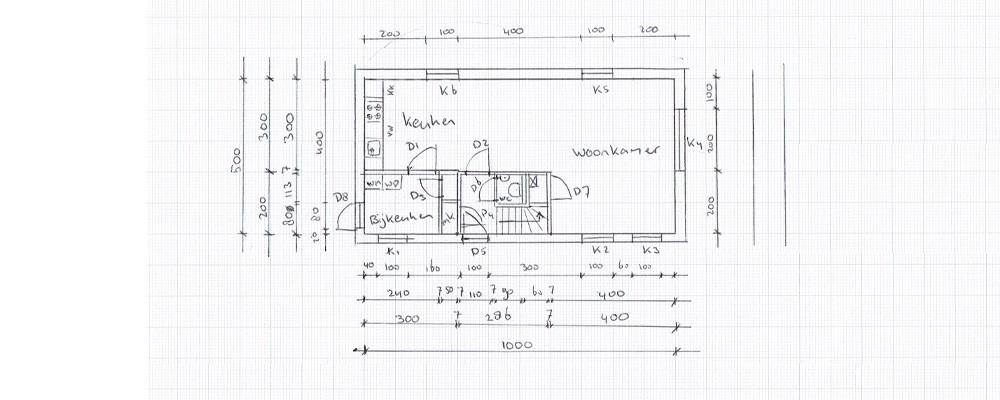Standaard Keuken Nieuwbouw : teken keuken – bijkeuken en meterkast