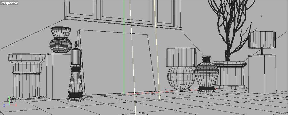 Een eigen foto textuur op accessoires in een interieur for 3d huis tekenen