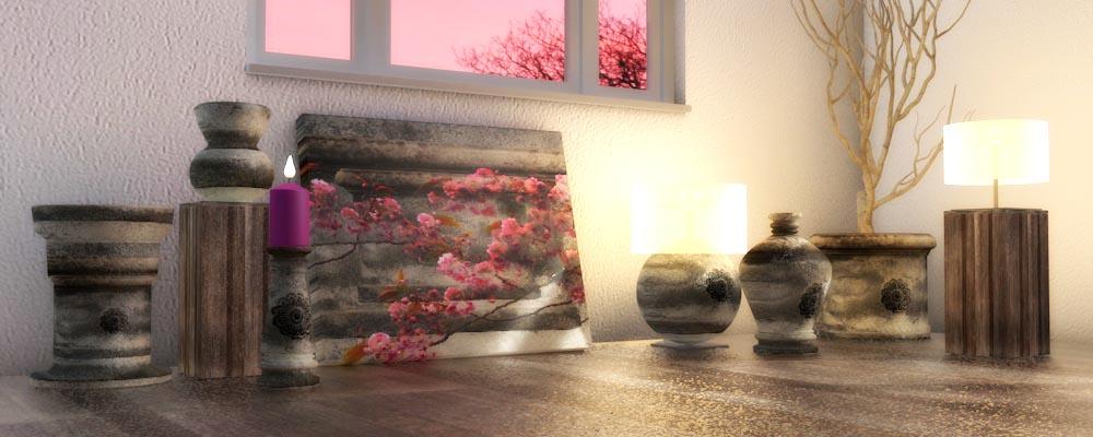 Een eigen foto textuur op accessoires in een interieur for 3a interieur accessoires