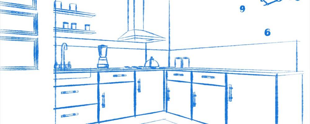 Sketch up tekeningen for Keuken in 3d tekenen