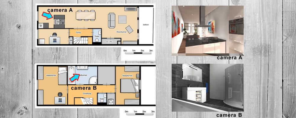 Presentatie verkoop woning - Interieur van een huis ...
