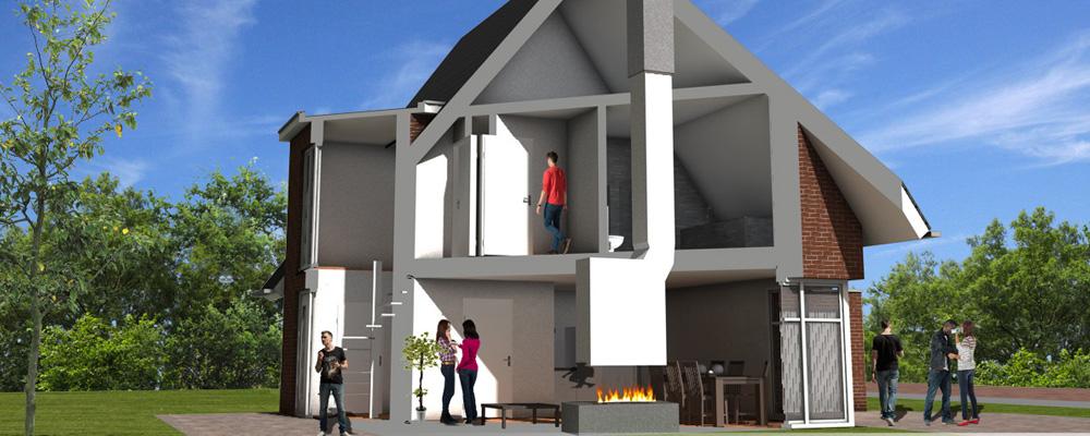 3d Impressie Doorsnede Huis