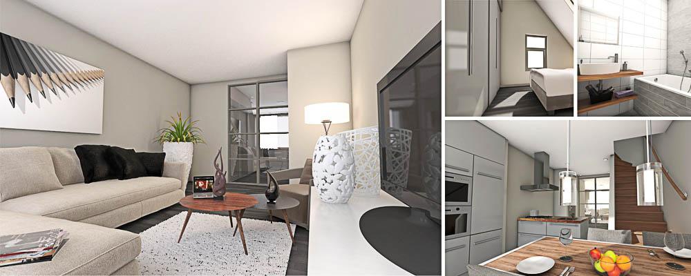 Inrichting nieuwbouw woonkamer for Woning inrichten 3d
