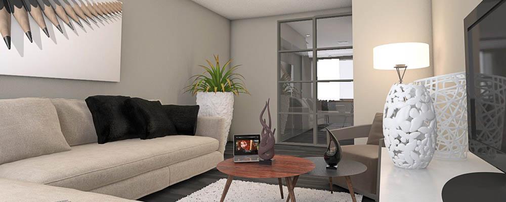 Binnenhuisarchitectuur woonkamer for Interieur woonkamer