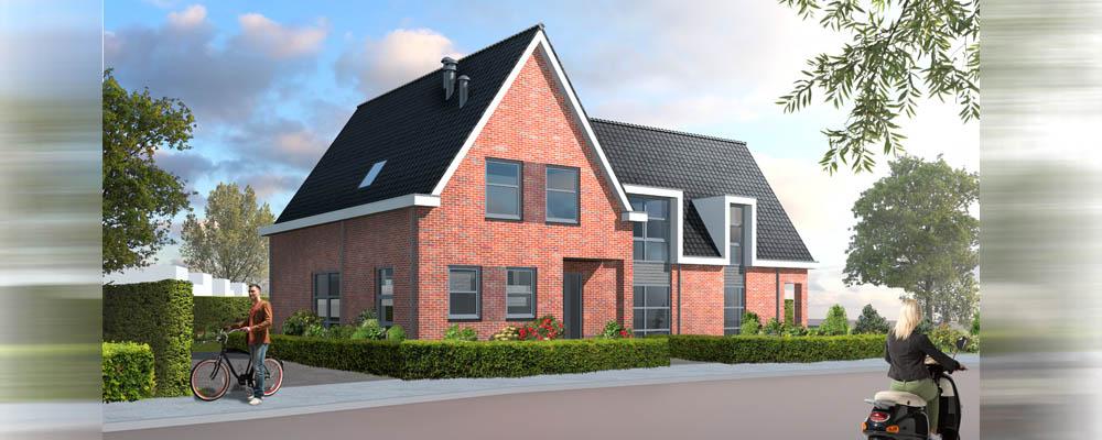 Nieuwbouw presentatie van huis in de verkoop - Huis exterieur picture ...