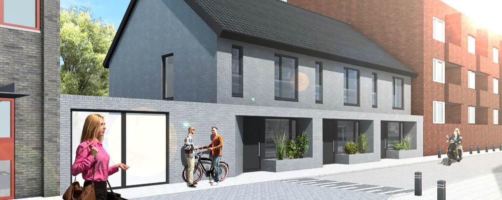 3d afbeeldingen voor verkoop woning - Exterieur kleur eigentijds huis ...