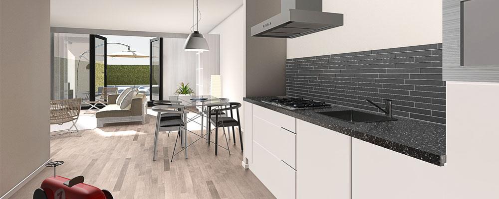 Keuken indeling plattegrond for Keuken inrichten 3d