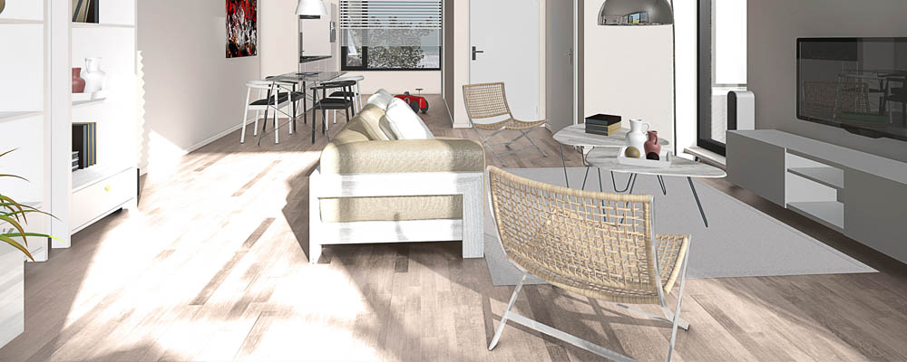 artists impression interieur woonkamer