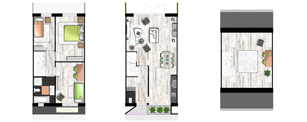 3d afbeeldingen voor verkoop woning - Nieuw huis binneninrichting ...