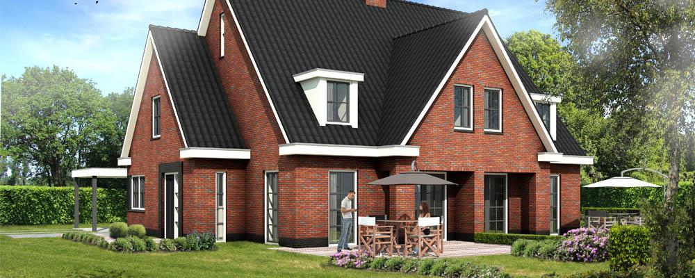 Nieuwbouw presentatie van huis in de verkoop for Huis maken 3d