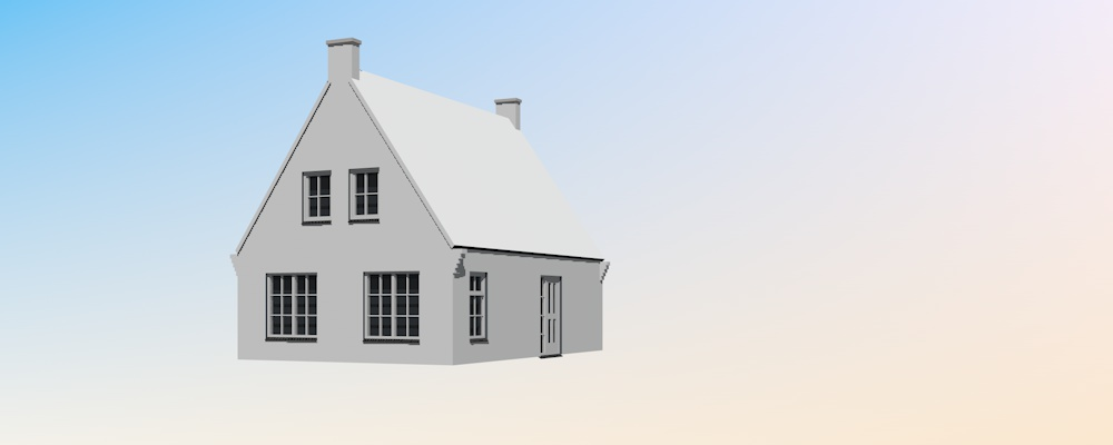 Stap voor stap uitleg een impressie van een huis maken for Huis maken 3d