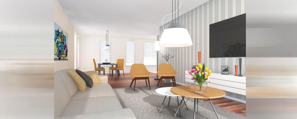 nieuw interieur met digitale 3d restyling, Deco ideeën